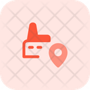 Factory Location Industry Location Navigation Sign Icon