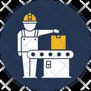Automation Conveyor Belt Factory Production Icon
