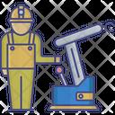 Automation Engineer Machine Icon