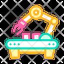 Factory Robotic Arm Icon