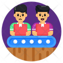 Logistic Workers Conveyor Belt Factory Workers Icon