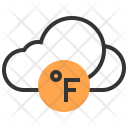 Fahrenheit Cloud Sign Icon
