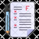 Exam Failed Grade Icon