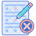 Fail Wrong Checklist Icon
