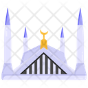 Holy Place Faisal Mosque Religious Building Icon