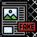 Fake Advertising Newspaper Journal Icon
