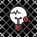 Fake Concept Idea Lightbulb Icon
