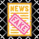Fake News Color Icon