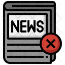 Fake News Newspaper Journal Icon