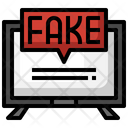 Fake News Smart Tv News Report Icon