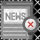 Fake News Checking Magnifying Glass Icon