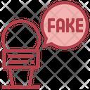 Fake News Microphone Untrue Icon