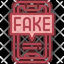 Fake News Smartphone Viral Icon