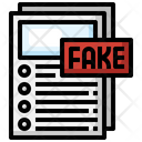 Fake Report Fake Document Fraud Icon