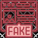 Fake Website Fake Browser Fake Webpage Icon