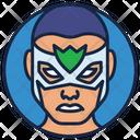 Falcon Warrior Superhero Icon