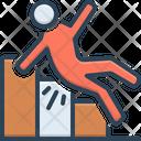Fall Downhill Downfall Icon