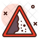 Fallen Rocks Sign Icon