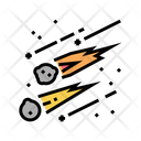 Falling Meteors Color Icon