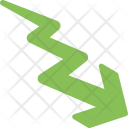 Rising Loss Zigzag Icon