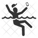 Falling down in water Icon