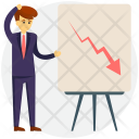 Analyst Falling Graph Icon