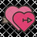 Falling Love Valentine Icon