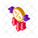 Falling Interest Down Icon