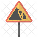 Falling Rocks Traffic Icon