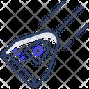 Falling Space Capsule Satellite Astronomy Icon