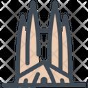 Familia Landmark Monument Icon