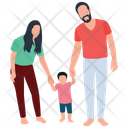 Happy Family Complete Family Kid And Parents Icon