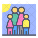 Family Kids Family Members Icon