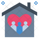 Family Love House Icon