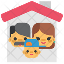 Quarantine Stayhome Home Family Icon
