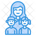 Family Mother Children Icon