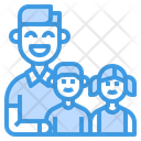 Family Father Children Icon
