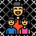 Family Father Children Icon