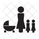 Family Parent Stroller Icon