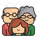 Family Grandfather Grandmother Icon