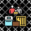 Family Refugee Luggage Icon