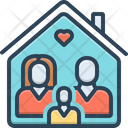 Foster Family Parents Icon