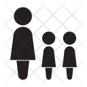 Mother Daughters Kids Icon