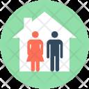 Family House Couple Icon