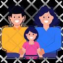 Family Bonding Parents Mom Dad Icon