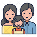 Family Icon in Colored Outline Style