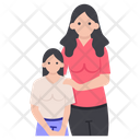Mother And Child Single Parent Family Icon