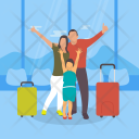 Family Enjoying Vacations Icon