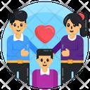 Happy Family Family Love Parents Love Icon