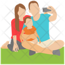 Family Photo Selfie Outdoor Selfie Icon